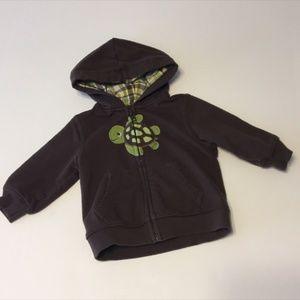 Gymboree Baby Boy Brown Turtle Hoodie 6-12M